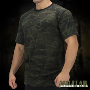 Camiseta Militar Manga Curta - Camo Multicam Black