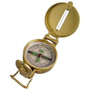 Bússola Lensatic Compass Metal Case - Dourada