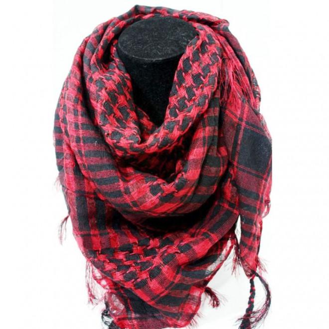 Shemagh Tatico Vermelho Quadriculado