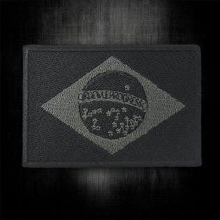 Bordado Bandeira do Brasil Preta Grande com Velkro