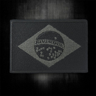 Bordado Bandeira do Brasil Preta - Media