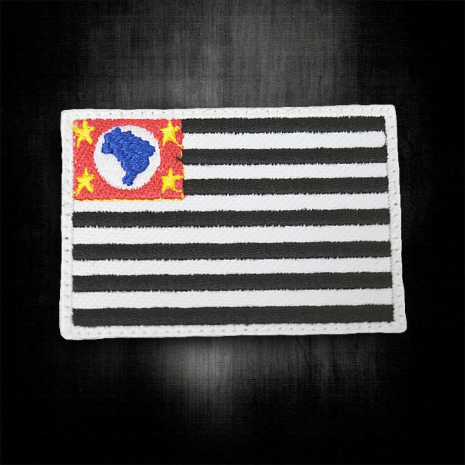 Bordado Bandeira São Paulo - Média