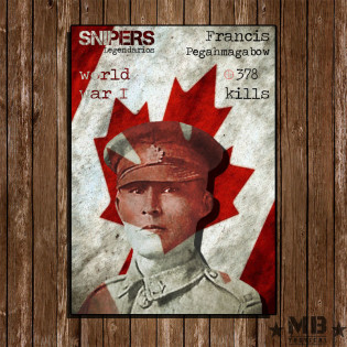 Poster Francis Pegahmagabow 297x420mm