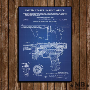 Poster Patent Thompson 1922 - Fundo Azul