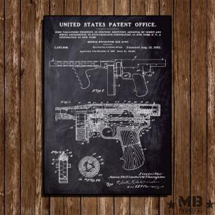 Poster Patent Thompson 1922 - Fundo Lousa