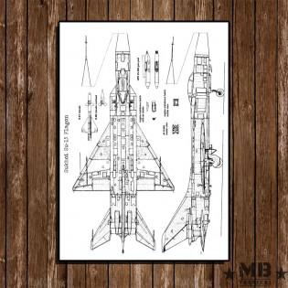 Poster Patent Sukhoi Su-15 Flagon - Fundo Branco