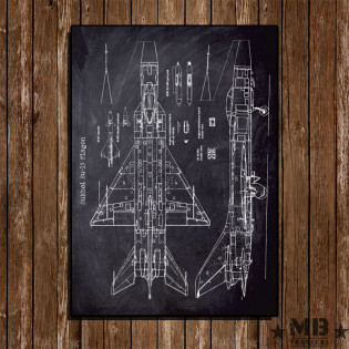 Poster Patent Sukhoi Su-15 Flagon - Fundo Lousa