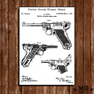 Poster Patent Luger - Fundo Branco