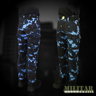 Calça Outlet 1 - Camo Woodland Blue