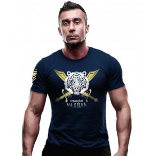Camiseta Operações na Selva - Azul