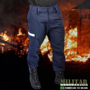 Calça Militar Brasil Refletivo - Azul