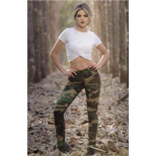 Calça Skinny - Camo Woodland