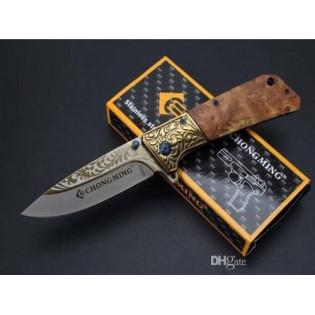 Canivete Caça Acampamento Chongming Cabo D Madeira