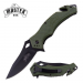 Canivete Master USA spear point corta cintos verde