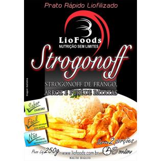 Ração Militar Liofilizada - Strogonoff de Frango arroz batata - Serve 2