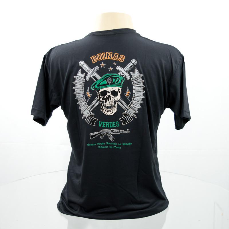 Camiseta Boina Verde - Preto - Militar Brasil - artigos militares ... 4c2eab3beb7