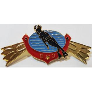 Distintivo Metal Curso de Mergulho Bombeiro Oficial