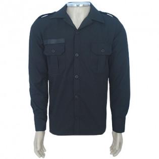 Camisa Marines Manga Longa Top Nyco - Preta