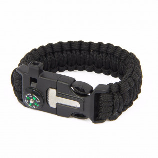 Bracelete Paracord - Preto