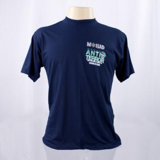 Camiseta Mossad Group Anti-Terror - Azul