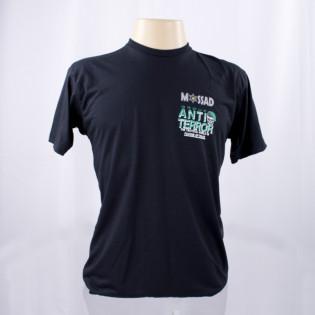 Camiseta Mossad Group Anti-Terror - Preto