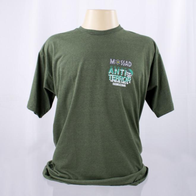 Camiseta Mossad Group Anti-Terror - Verde