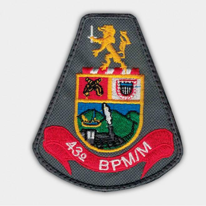 Brasão Bordado 43º BPM/M
