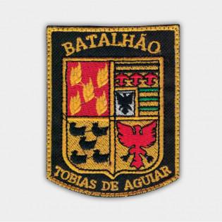 Brasão Bordado 1º Choque - Bat. Tobias de Aguiar - Preto