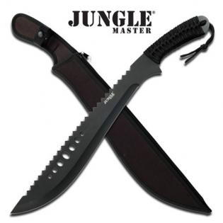 Facao full tang Jungle Master punho com cordao
