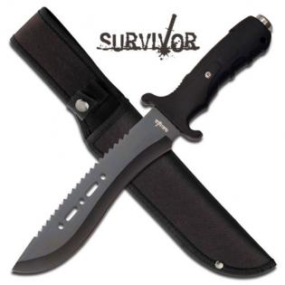 Faca Survivor outdoor c/ serrilhado no dorso