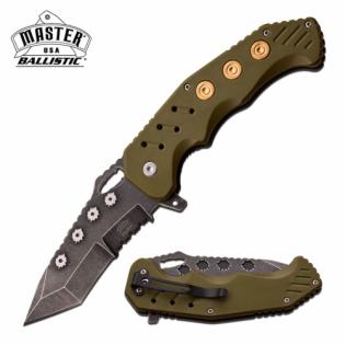 Canivete Master USA com abertura assistida e talas em fibra de nylon Verde
