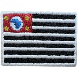 Bordado Bandeira de São Paulo - Pequena
