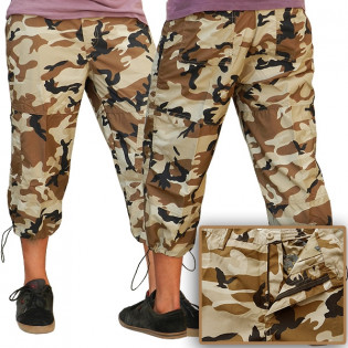 Calça Capri - Camo Woodland Brown