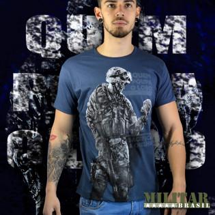 Camiseta quem Poupa o Lobo Qrv - Azul Marinho