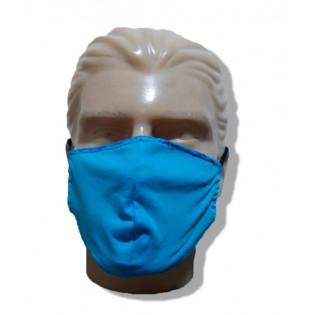 Mascara de Proteção Lavável Malha - Azul - Pacote com 3
