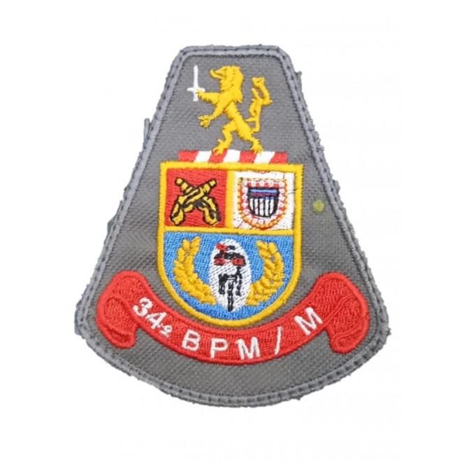 Brasão Bordado 34º BPM/M
