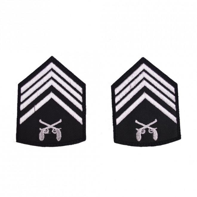 Divisa Bordada 2º Sargento o par - Preto
