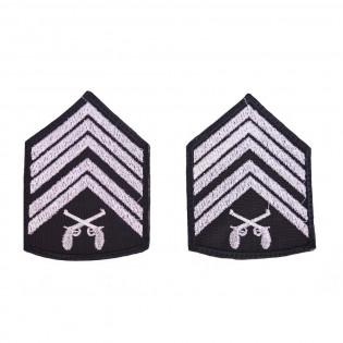Divisa Bordada 1º Sargento o par - Preto
