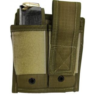Porta Carregador Pistola Duplo Molle - Caqui/TAN