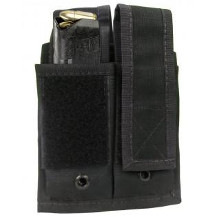 Porta Carregador Pistola Duplo Molle - Preto