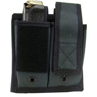 Porta Carregador Pistola Duplo Molle - Cinza