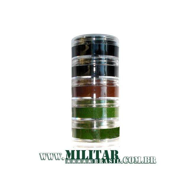Kit Camuflagem - 3 Cores - Preto, Marrom, Verde