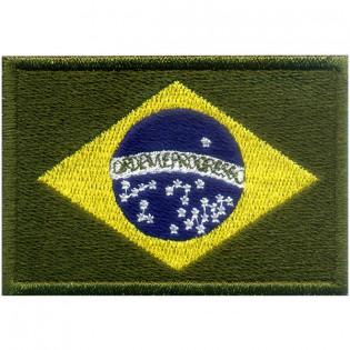 Bordado Bandeira Brasil Verde Grande