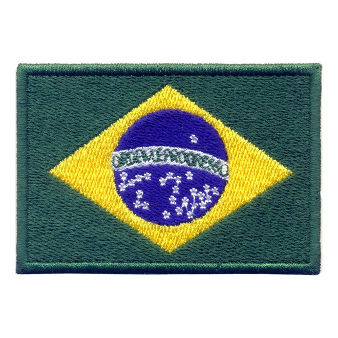 421b4a1b9f Bordado Bandeira Brasil Grande com Velkro - Militar Brasil - artigos ...
