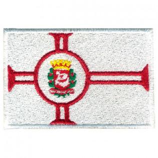 Bordado Bandeira Cidade São Paulo Grande