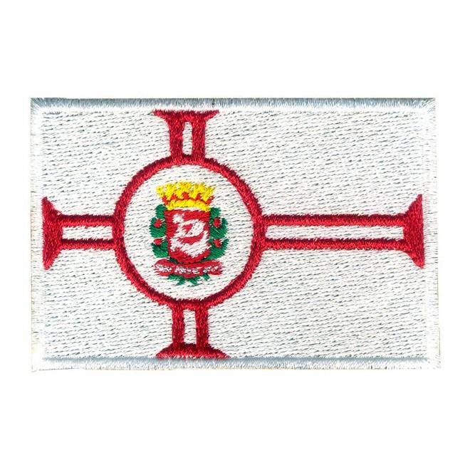f3bd1745e8 Bordado Bandeira Cidade São Paulo Oficial - Militar Brasil - artigos ...