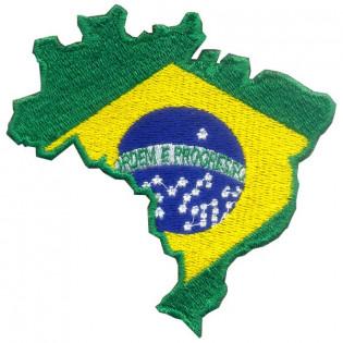 Bordado Mapa Bandeira do Brasil
