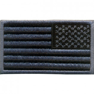 Bordado Bandeira U.S.A. Negativa Inversa Grande