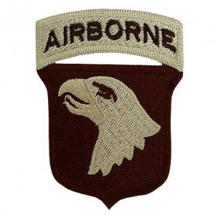 Bordado Airborne Águia Bege F. Marron