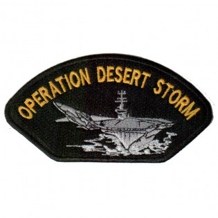 Bordado Operation Desert Storm 12cmx6,5cm
